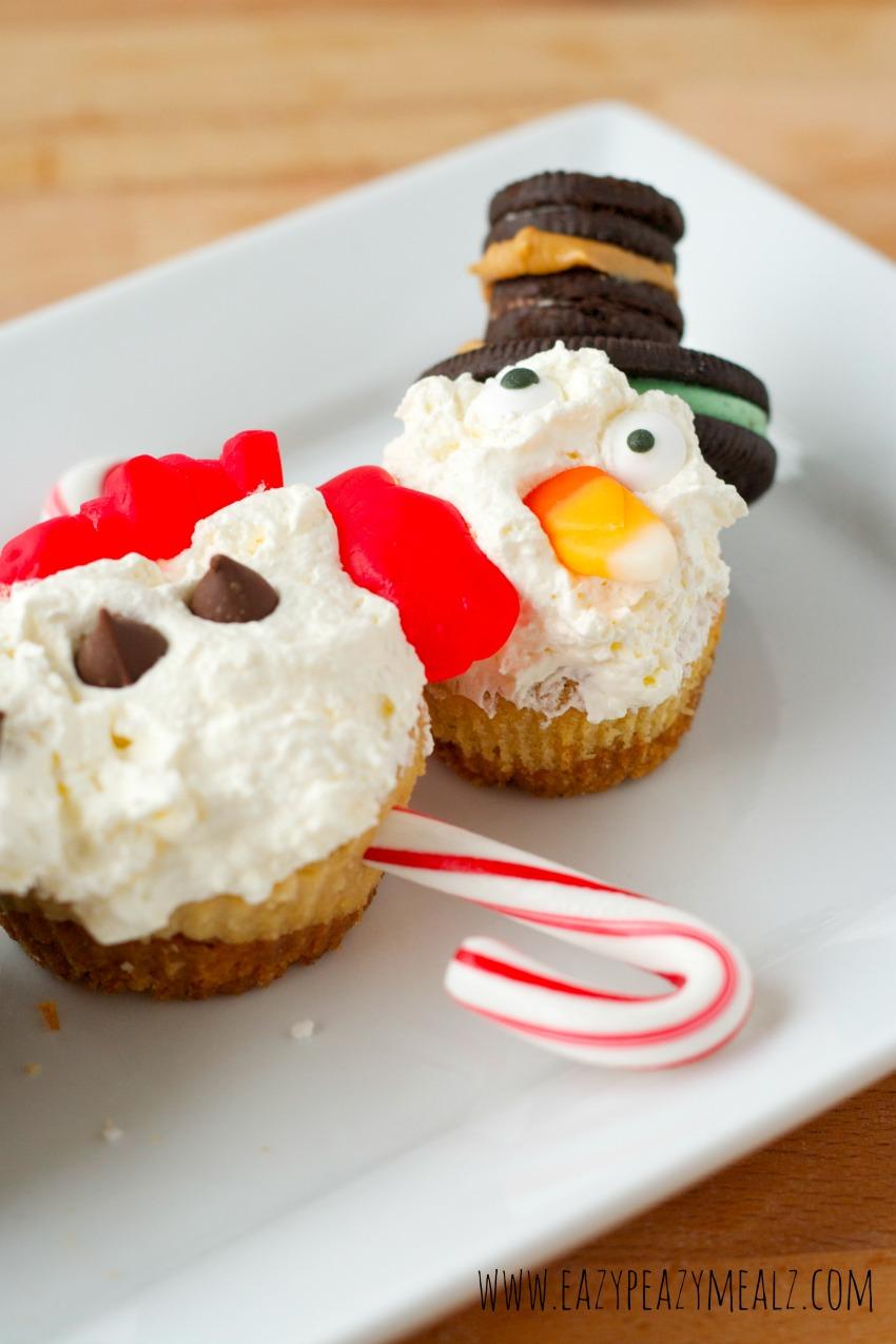 Cheesecake snowman