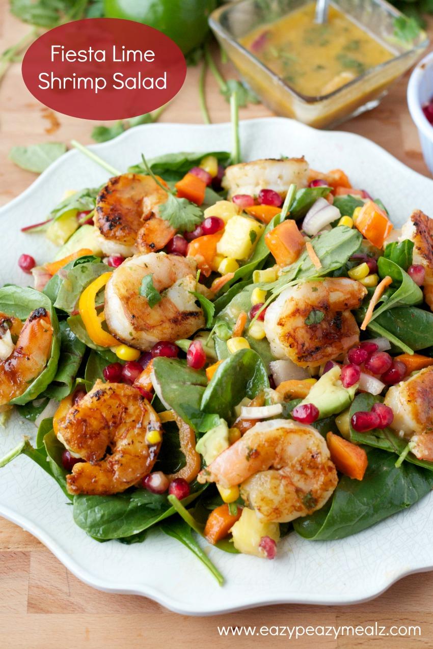 fiesta lime shrimp salad #eazypeazymealz