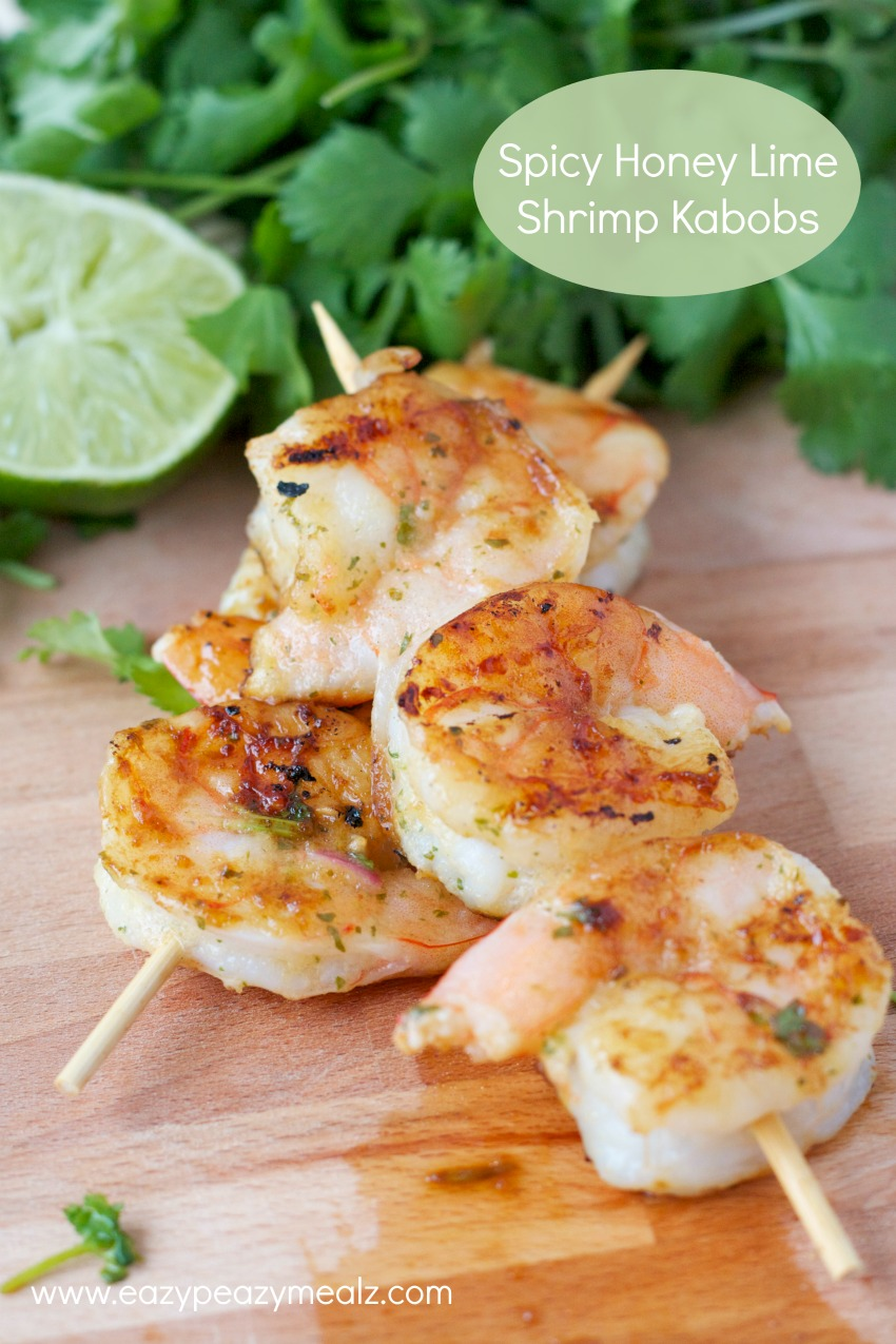 spicy honey lime shrimp kabobs #Eathealthy2015