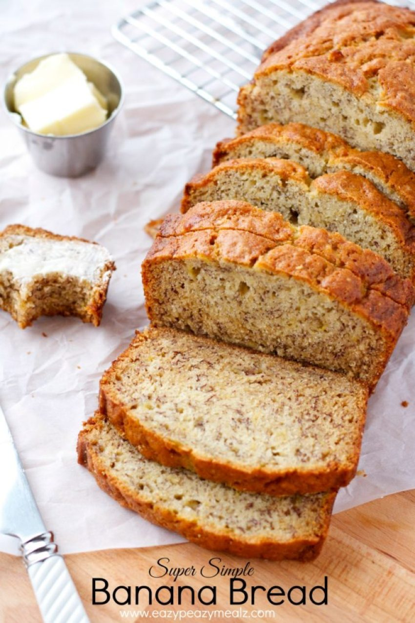 super simple banana bread recipe easy banana bread