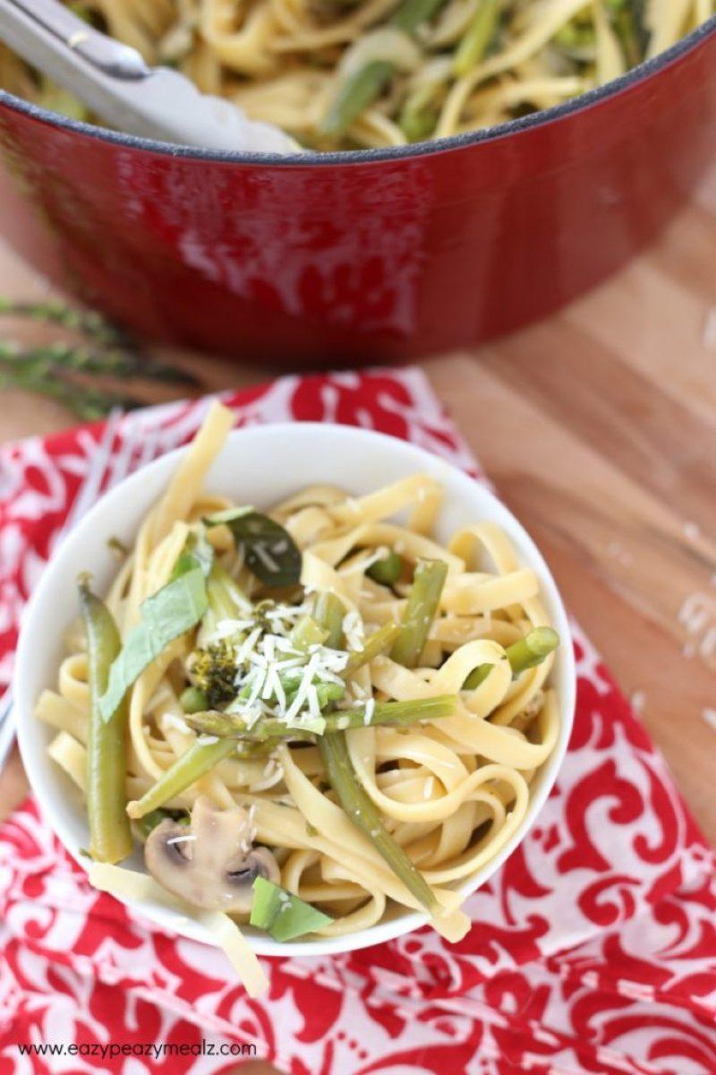bowl of pasta primavera #onepotpasta