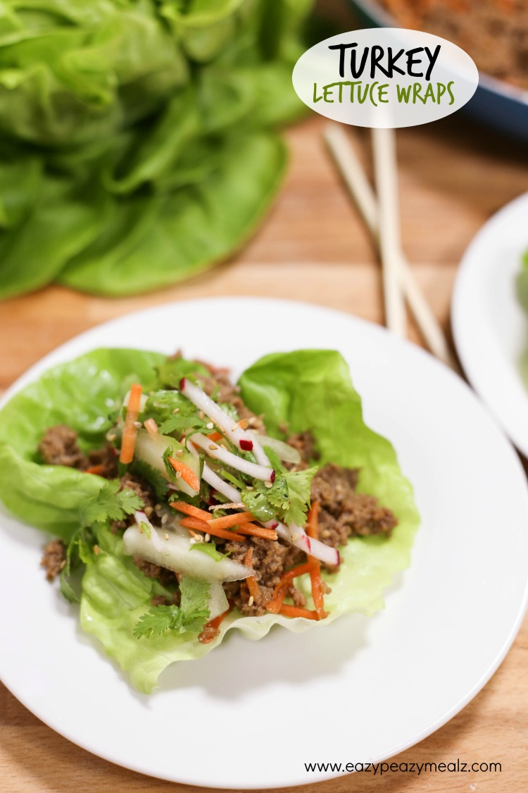 Turkey lettuce wraps asian