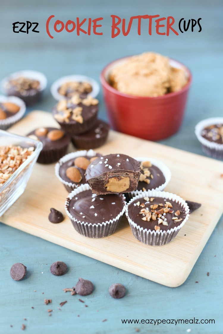 ezpz cookie butter cups with toppings