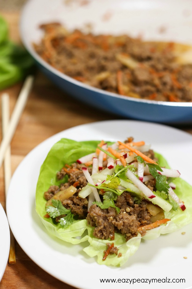 turkey lettuce wrap with cilantro lime topping