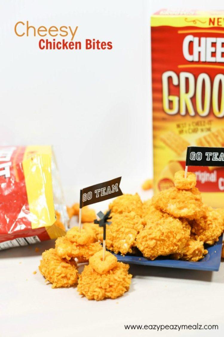 Cheesy chicken bites, perfect game day appetizers, the best game day appetizers