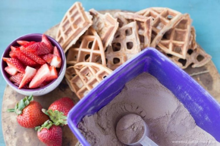Protein waffles powder