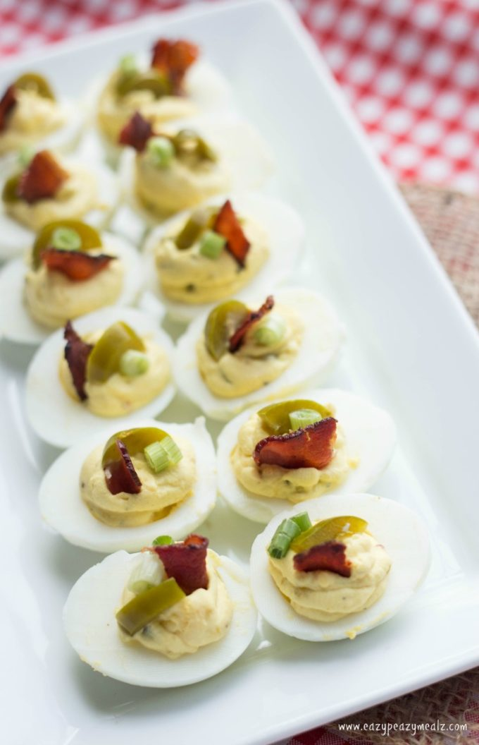 These bacon deviled eggs are a low carb or keto friendly deviled egg that is a great snack