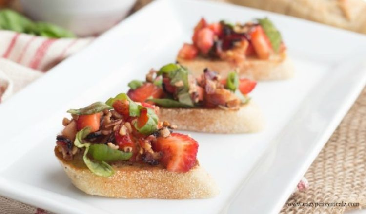 Strawberry basil crostini 2