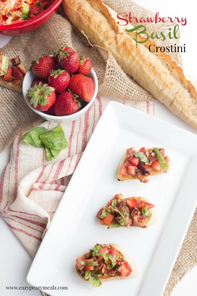 Strawberry basil crostini Hero