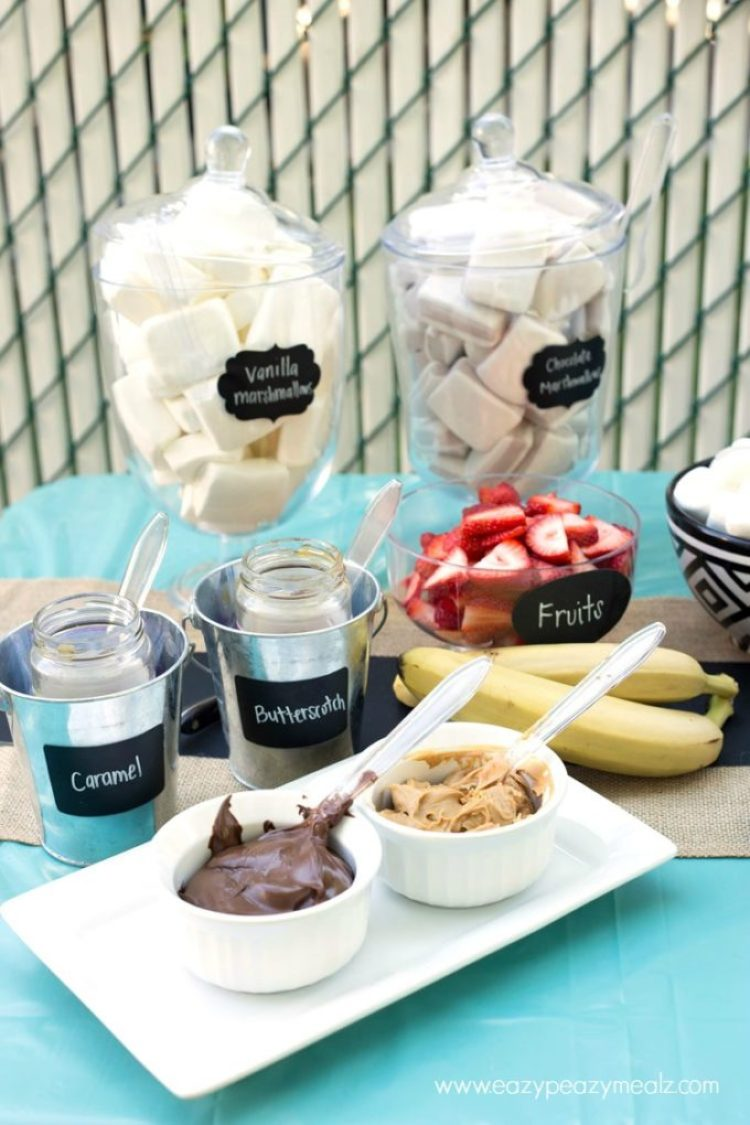 A variety of marshmallows for smores bar