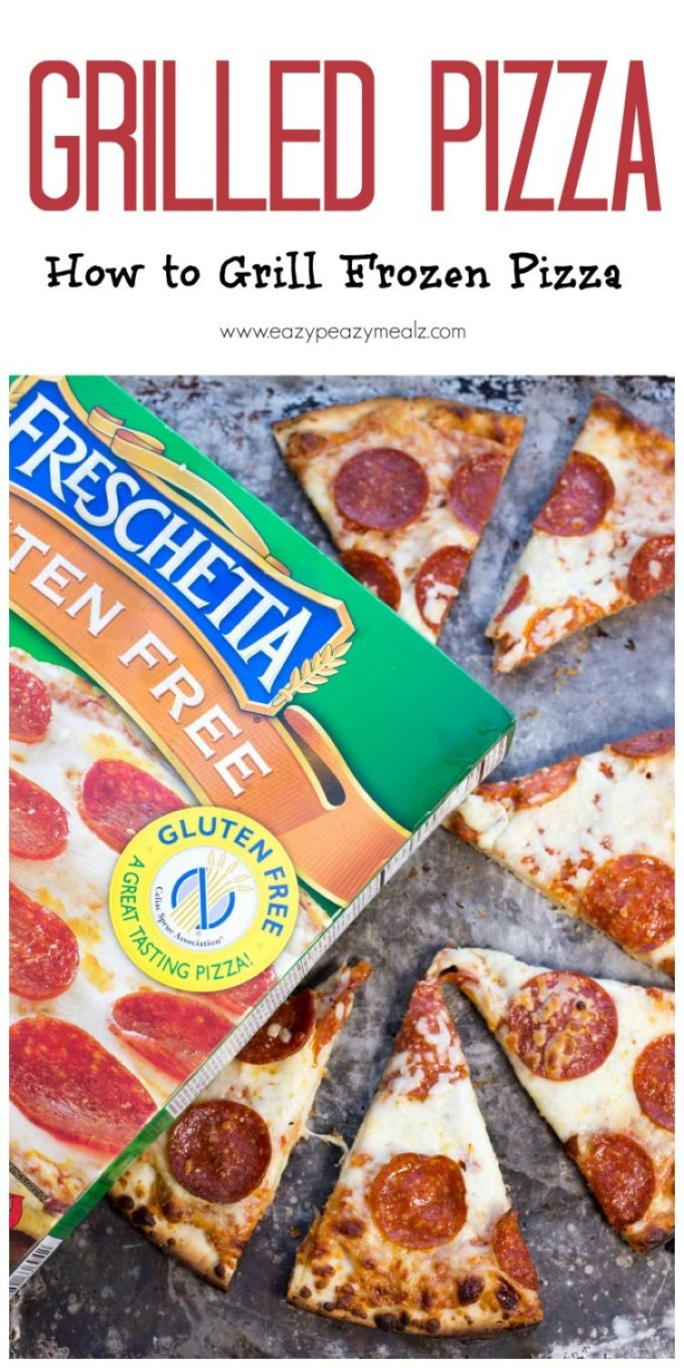 Grilled Pizza: Taking a frozen gluten free pizza and grilling it for added flavor and fun!
