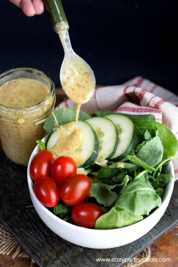 Honey Mustard Vinaigrette: Sweet, tangy, and oh so good, you will want to drink this easy 5 minute Honey Mustard Vinaigrette!