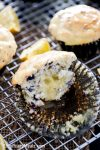 Sour Cream Lemon filled Blueberry Muffins, with sour cream lemon glaze. Utterly delectable.