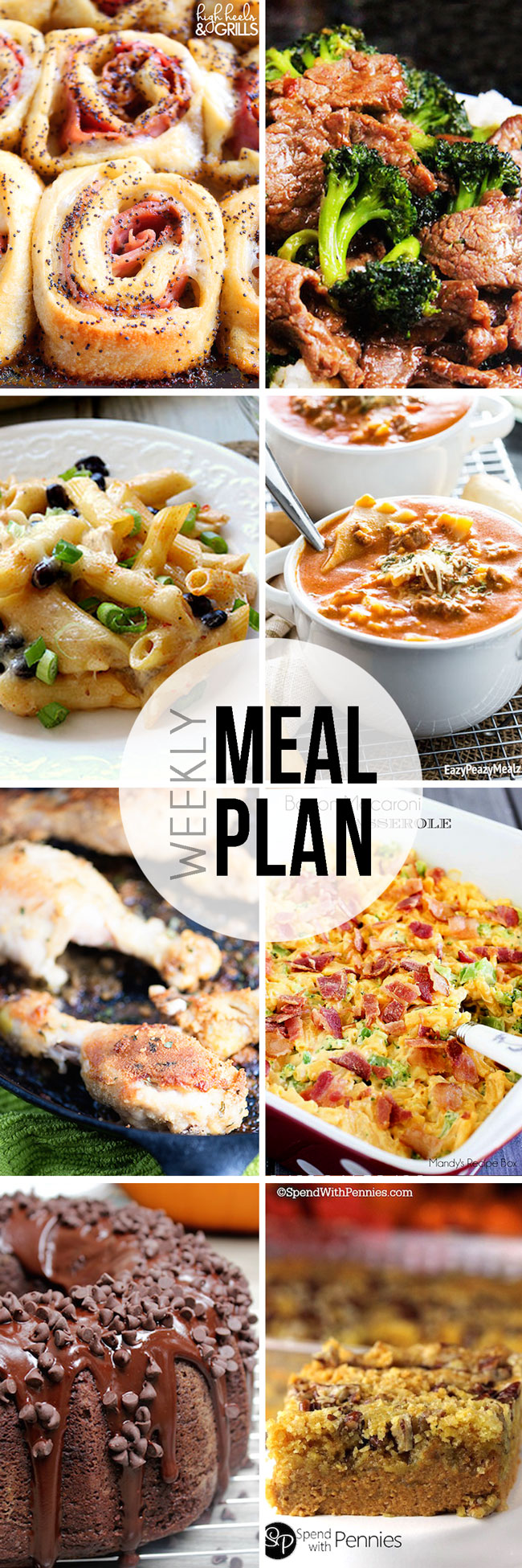 A week of tasty, delicious, easy meals you can plan and shop for in one day!