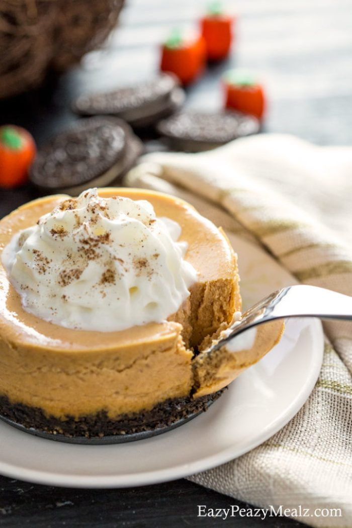 Want a bite of this light and airy pumpkin cookie cheesecake! it is as delicious as it looks.