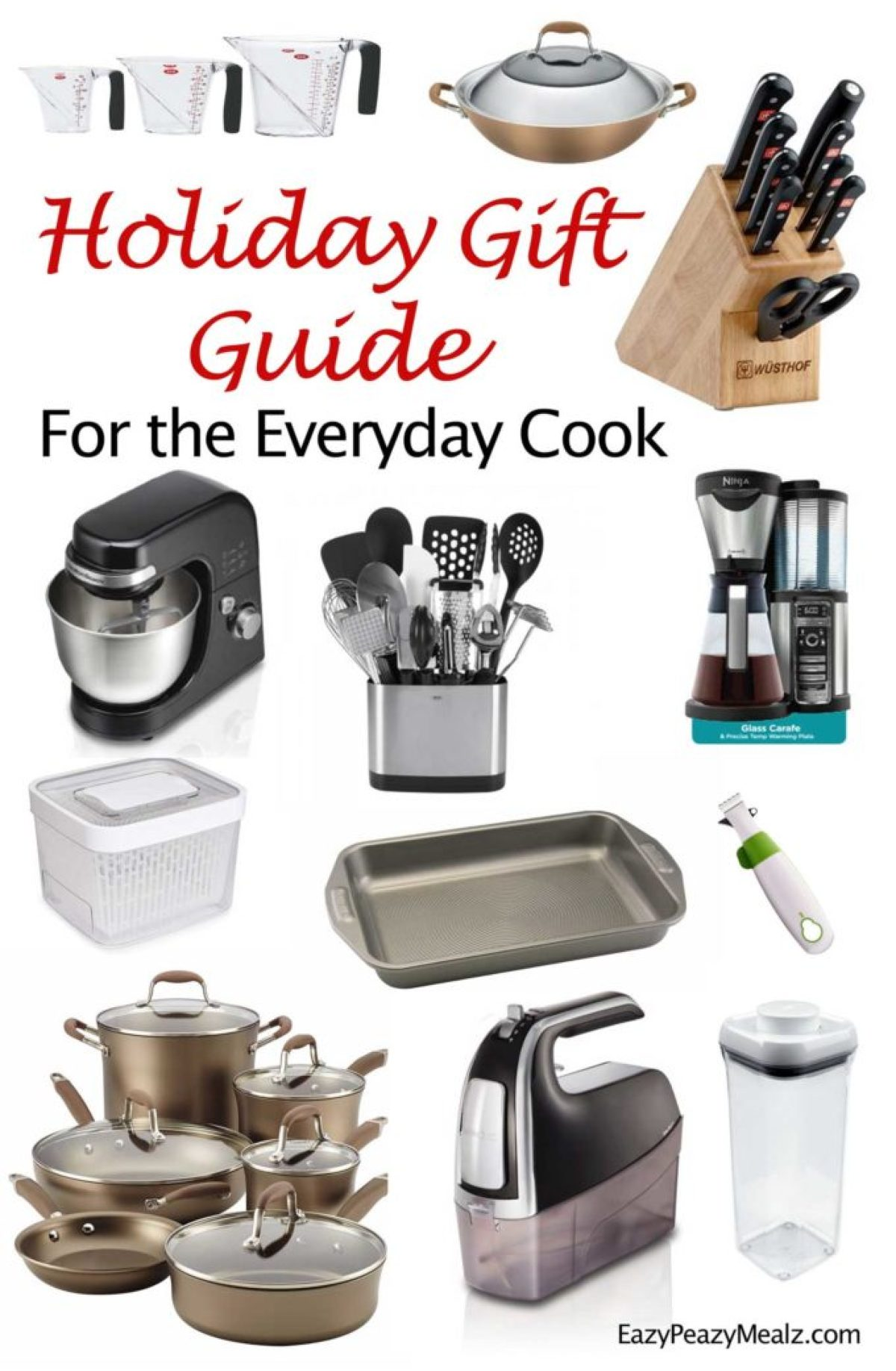 A holiday gift guide for the everyday home cook! My favorite kitchen tools for cooking for your family.