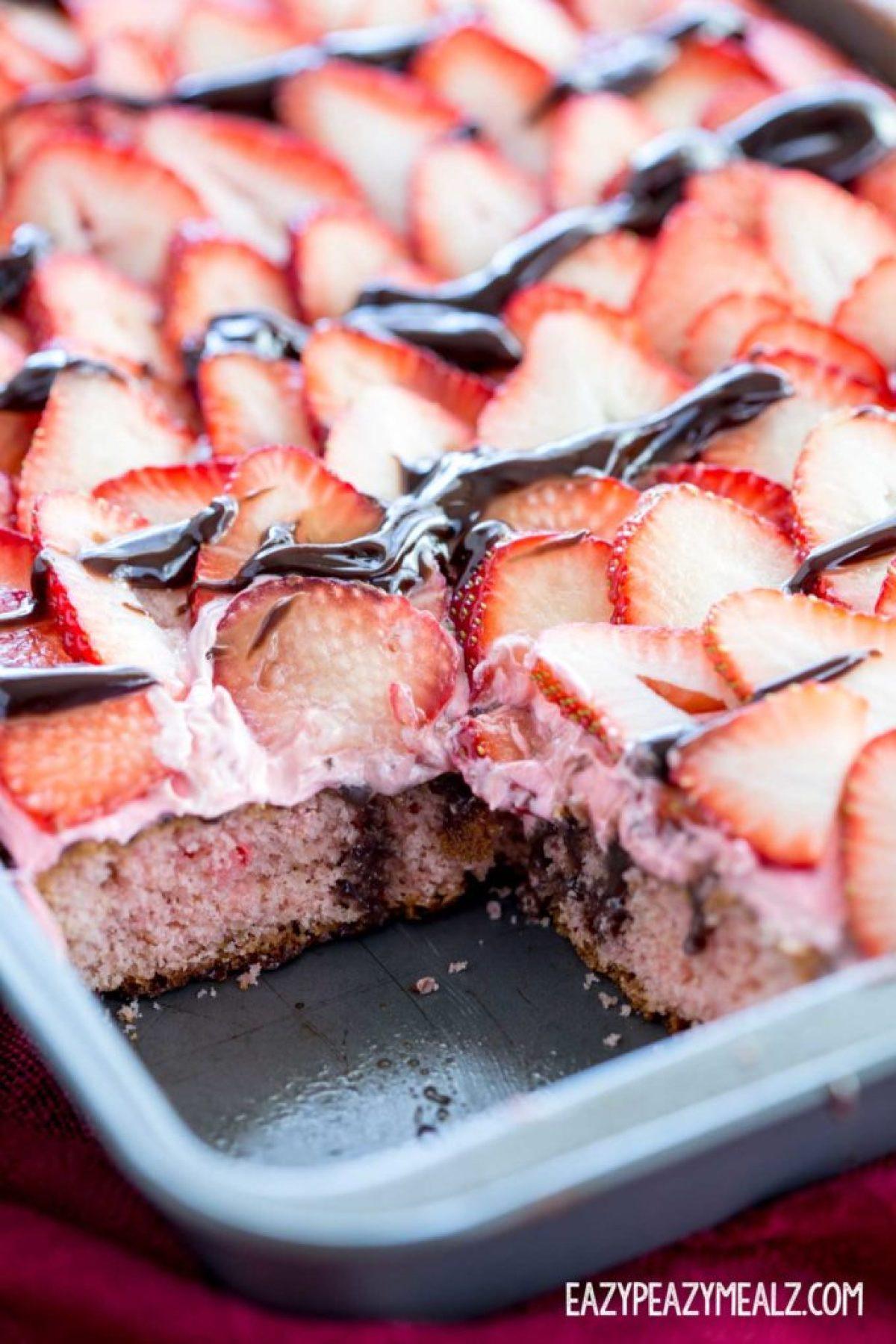 cake-with-slice-out-strawberry-poke-cake