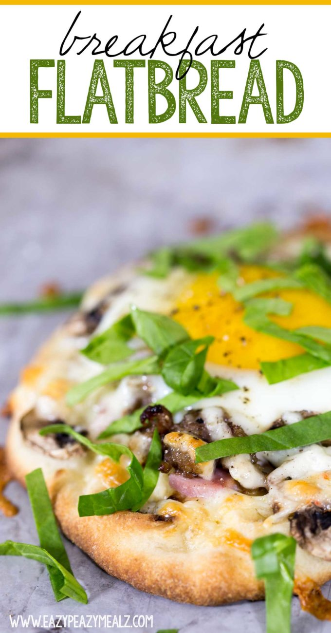 Breakfast flatbread, a hearty breakfast option, a simple and delicious breakfast