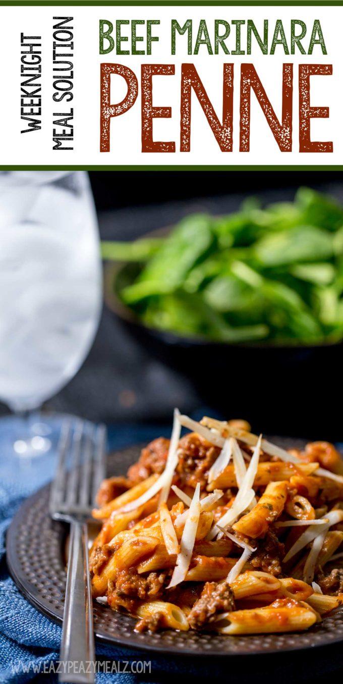 Weeknight Meal Solutions: Beef Marinara Penne