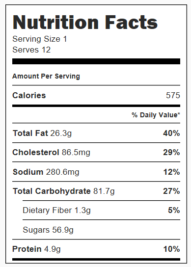 S'mores Whoopie Pies Nutrition Facts