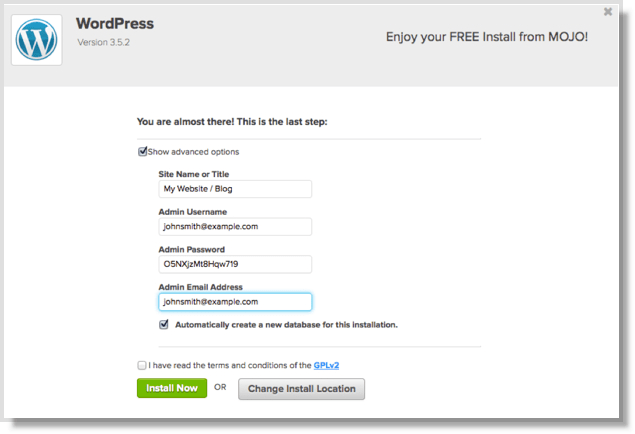 How to start a blog and install wordpress