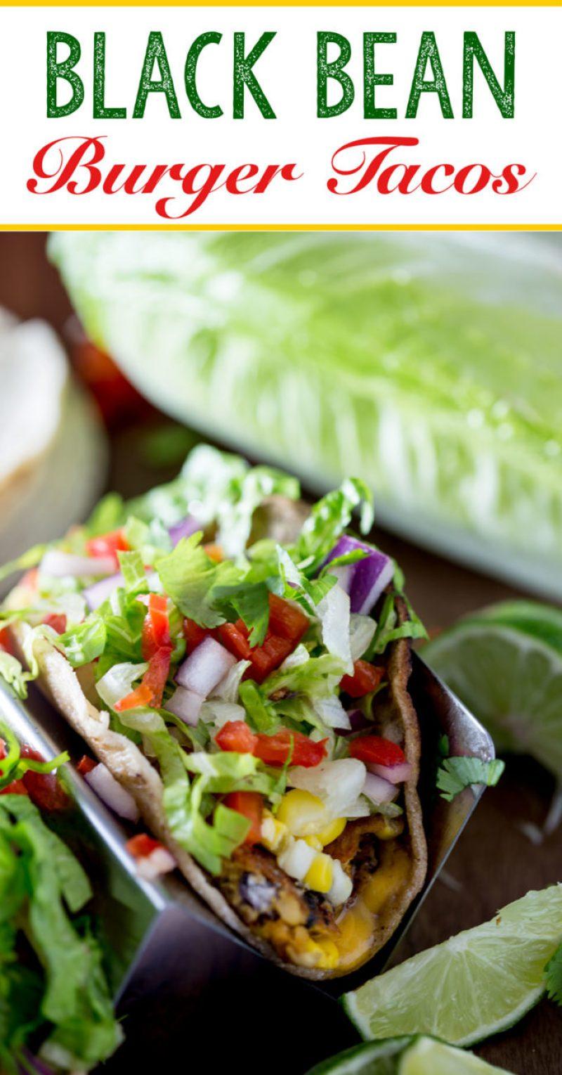 Black bean burger tacos a vegetarian weeknight meal