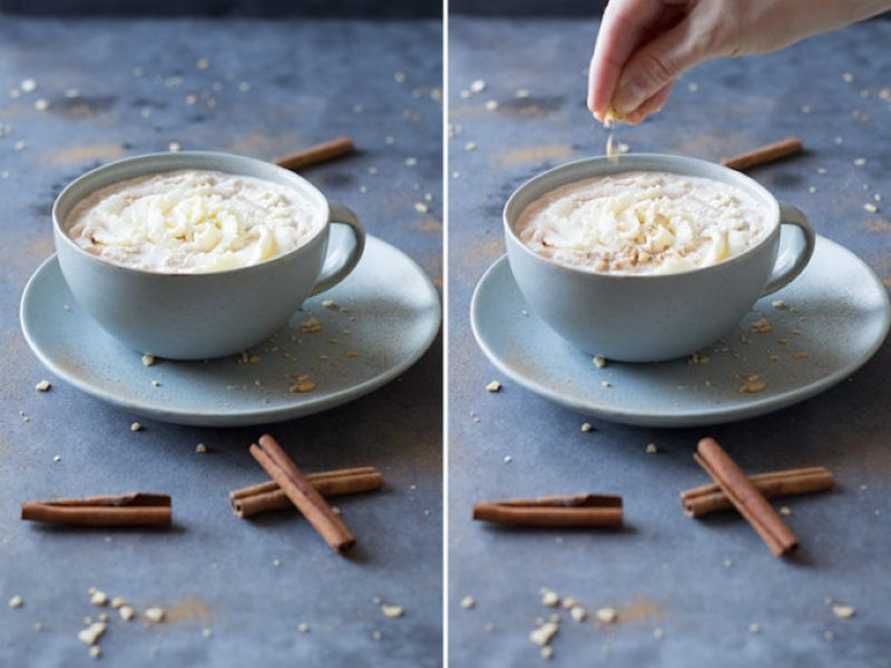 Yes! You read that right: HEALHTY Cinnamon Hot Chocolate. What is there not to love about this delicious drink that also serves as a healthy snack?