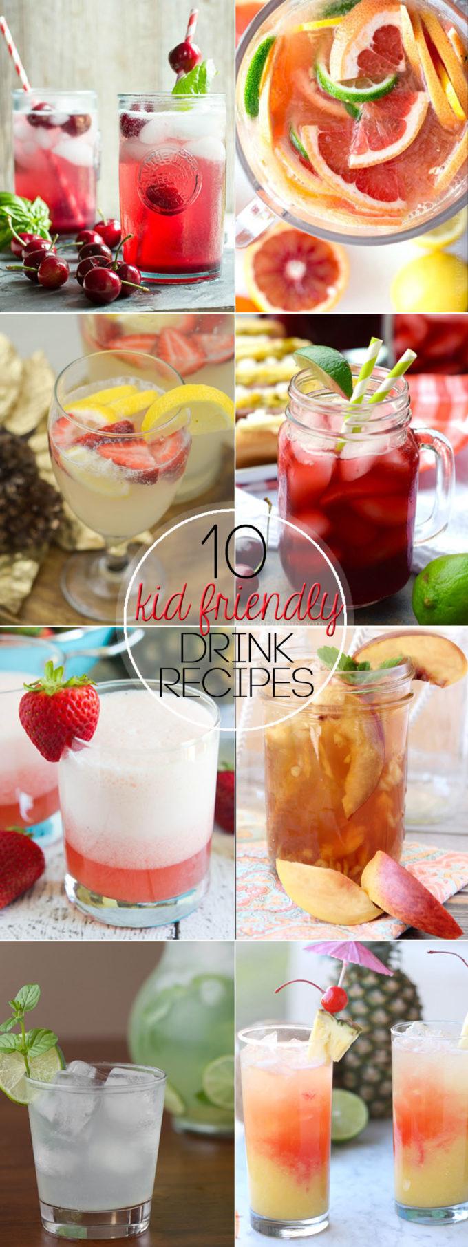 10 Kid friendly drinks