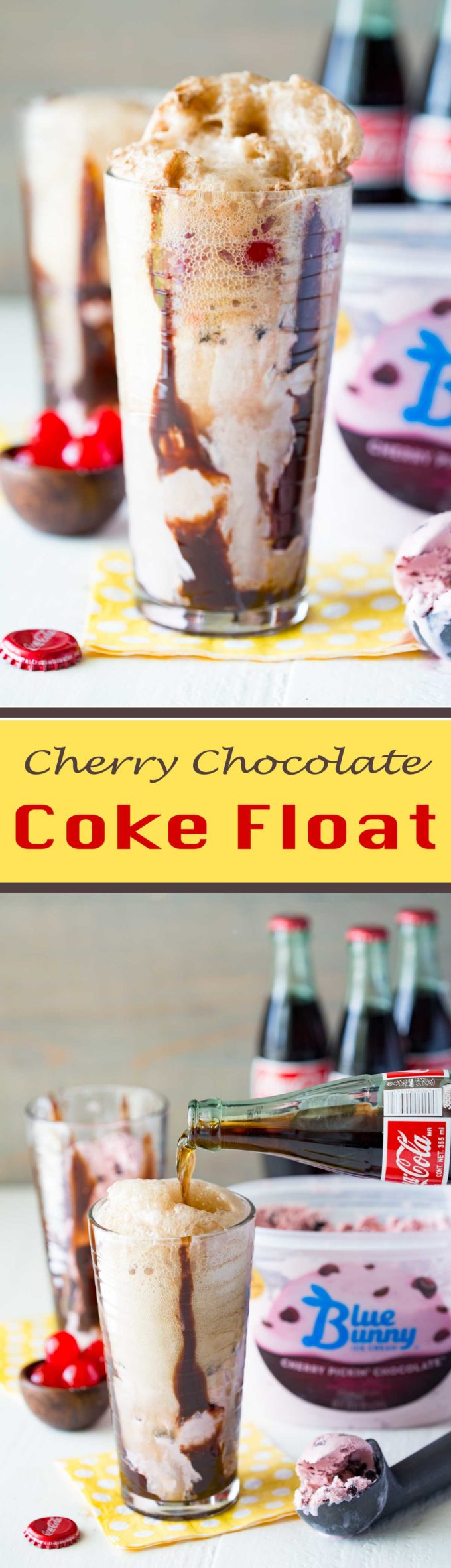 Cherry Chocolate Coke Float is a flavorful ice cream float!