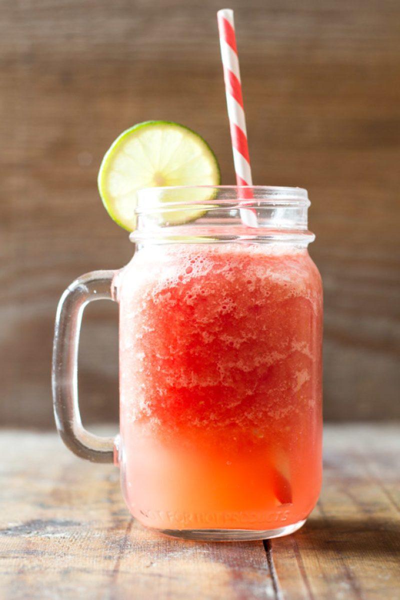 Watermelon Slush, a refreshing summer drink, a healthy slush