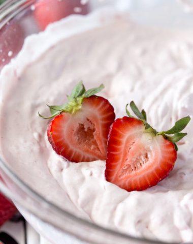 Strawberries and cream puffs