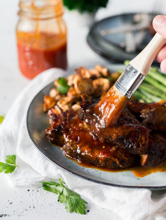 BBQ Country Style Pork Ribs cooked in the crock pot