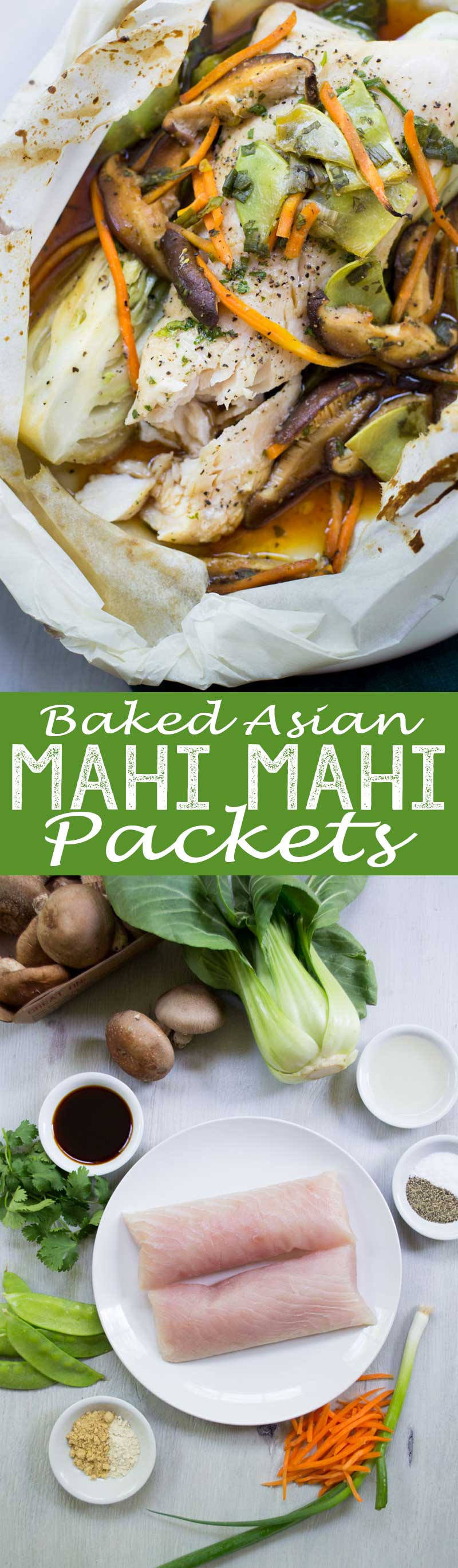 Such a fantastic dinner, these baked asian mahi mahi packets will rock your tastebuds