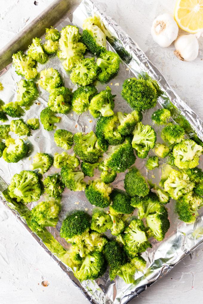 broccoli on a pan