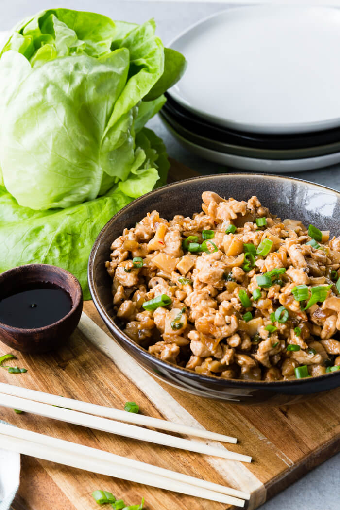 PF Chang's Copycat Lettuce Wraps with chicken