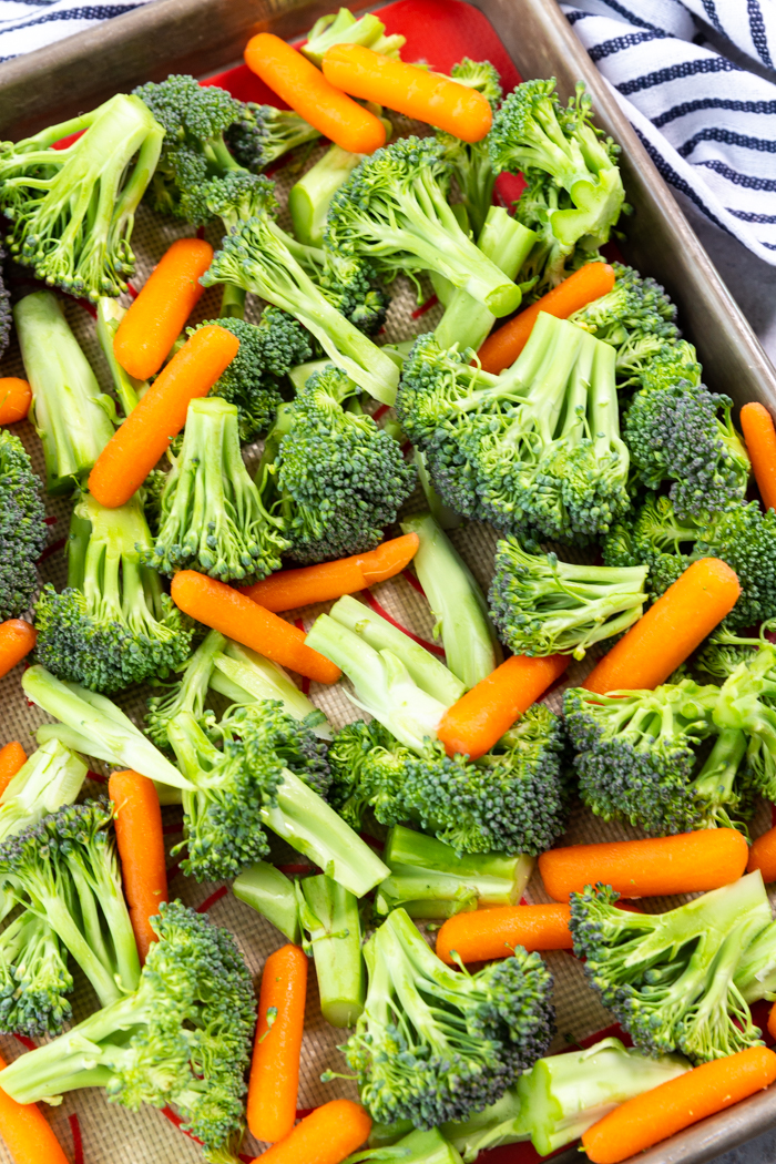 Cut vegetables into uniform size