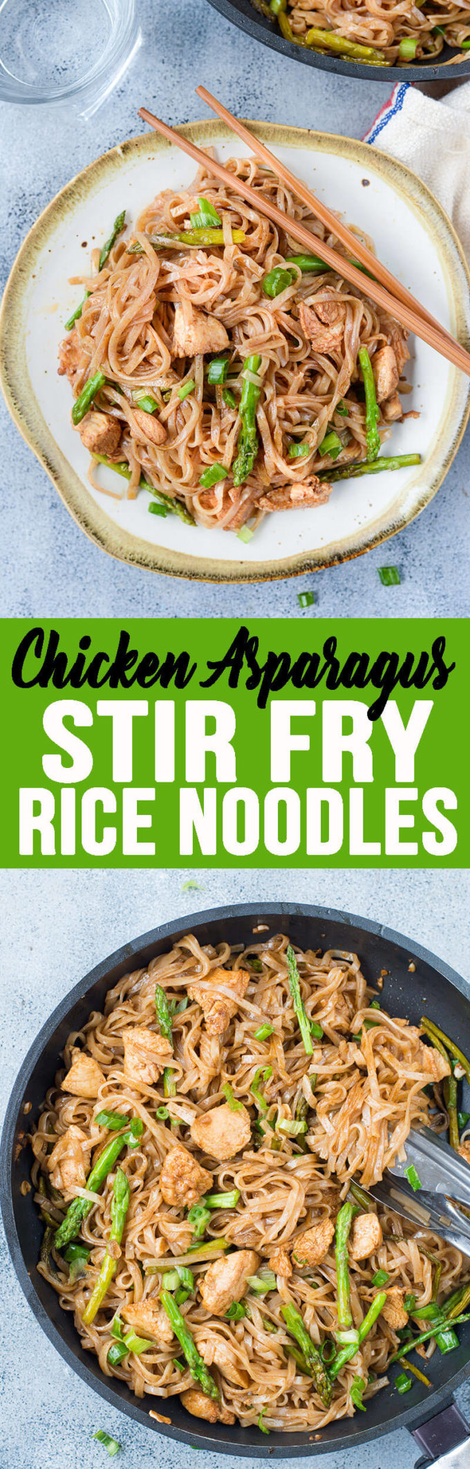 This Stir Fry Noodles is a quick stir fryrecipe with bursting Asian flavors. All you will need is one pan and less than 30 minutes to make a delicious weeknight dinner. While Chicken and asparagus works as a wonderful combination, you add any vegetable of your choice.