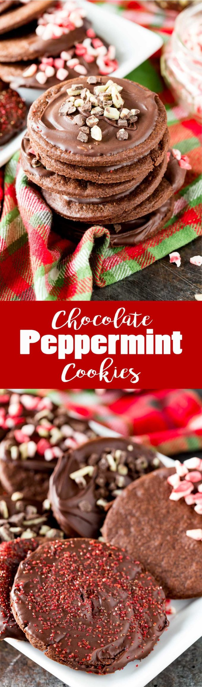 Chocolate Peppermint Cookies are a delicious easy Christmas cookie that embody the flavors of the season.