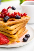 Perfect Waffles This classic waffle recipe offers a crispy exterior, and soft fluffy interior. Yum!