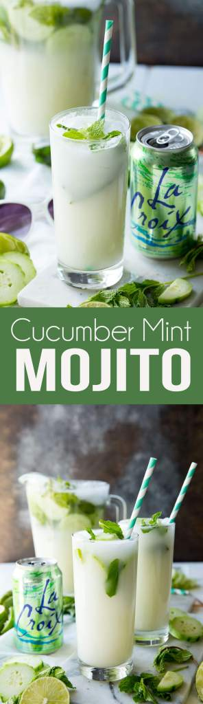 Easy cucumber mint mojito, creamy, refreshing, and delicious