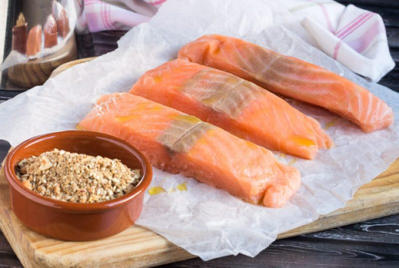 Baked Salmon Fillet: Infused with nutty dukkah flavors, the Salmon is fancy enough to serve to any company, with no more than a few of your favorite sides.