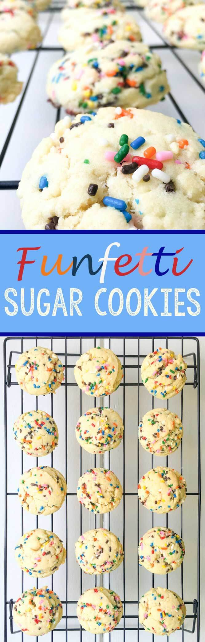 Funfetti Sugar Cookies are  quick, easy, and serious fun!