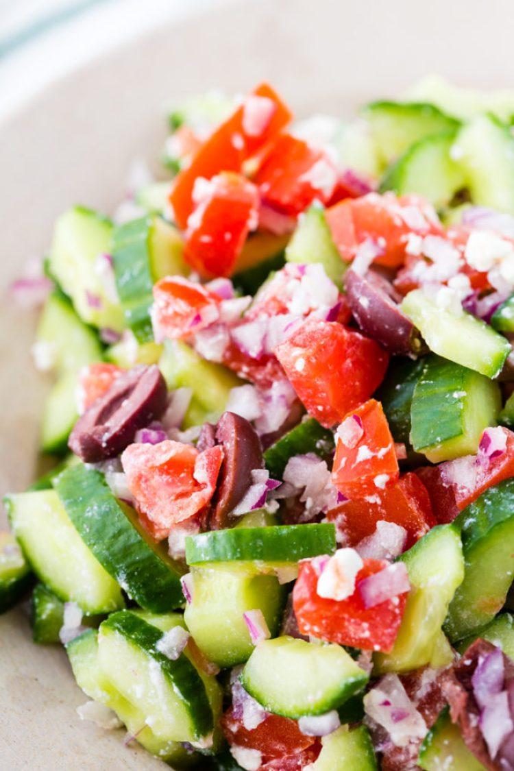 Greek Salad to put in instant pot greek chicken gyros