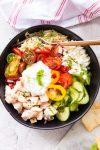 Greek Chicken Orzo Bowl