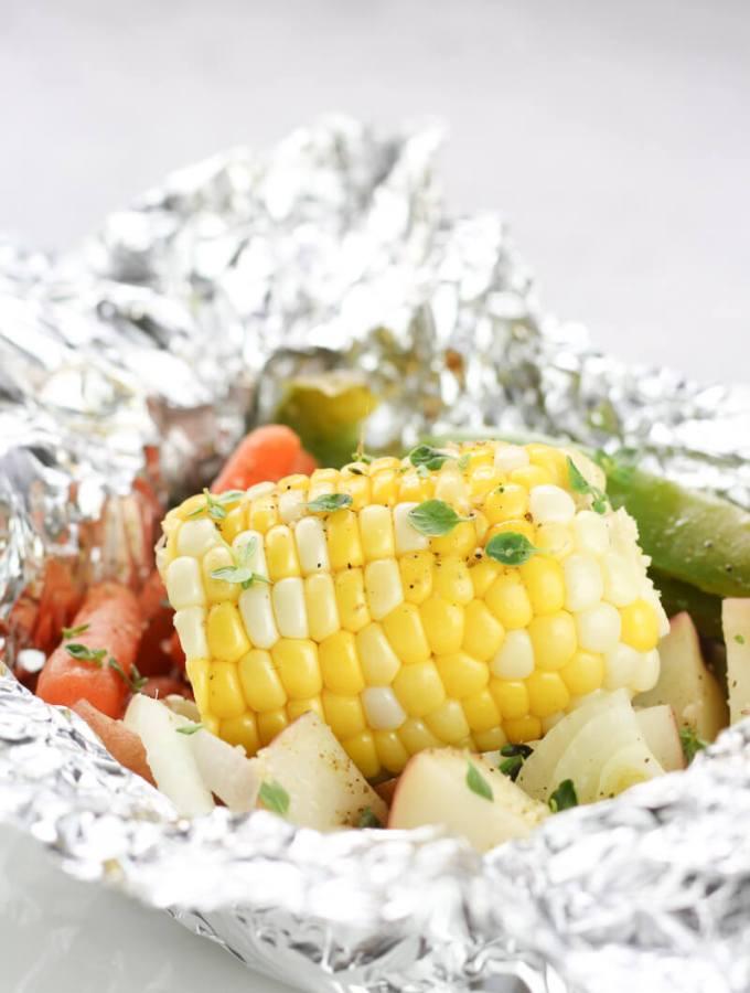 Hobo dinner, veggie packets
