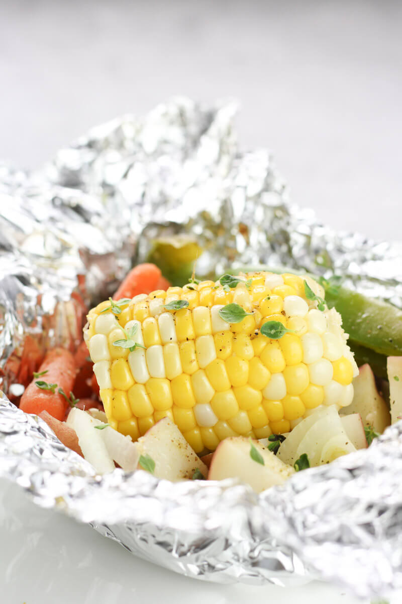 Hobo Potato Veggie Packets, camping dinner, tinfoil dinner