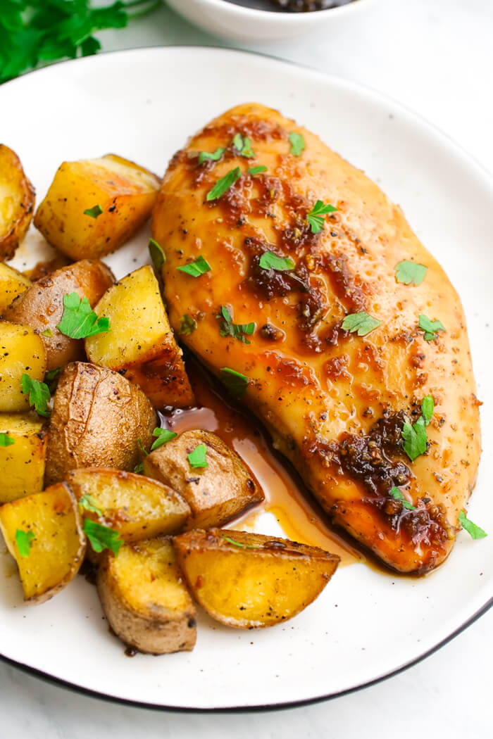 Sheet Pan Honey Garlic Chicken with Potatoes