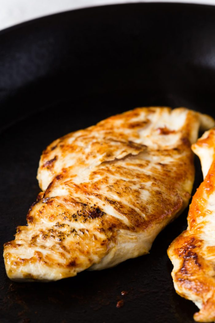 Pan seared chicken for a delicious honey mustard sauce