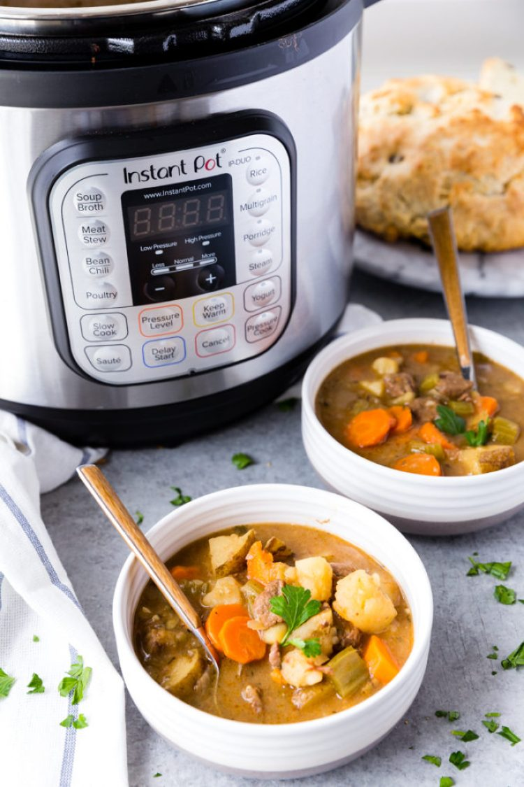 Instant Pot Beef Stew is hearty, delicious, and full of flavor.