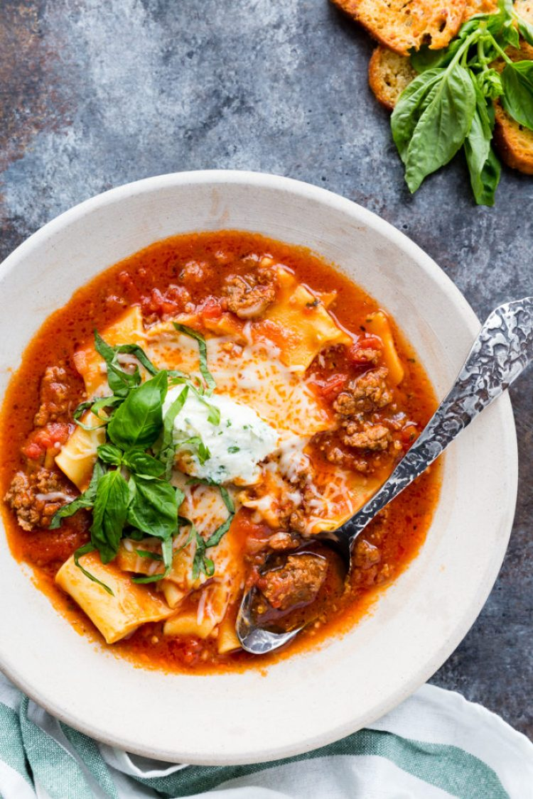 Easy Instant Pot Lasagna Soup